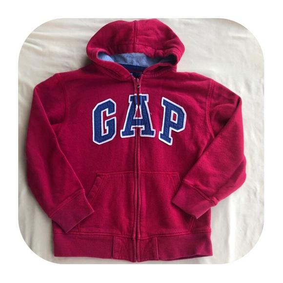 GAP Other - GAP Red Zip Up Hoodie Boys 8/M